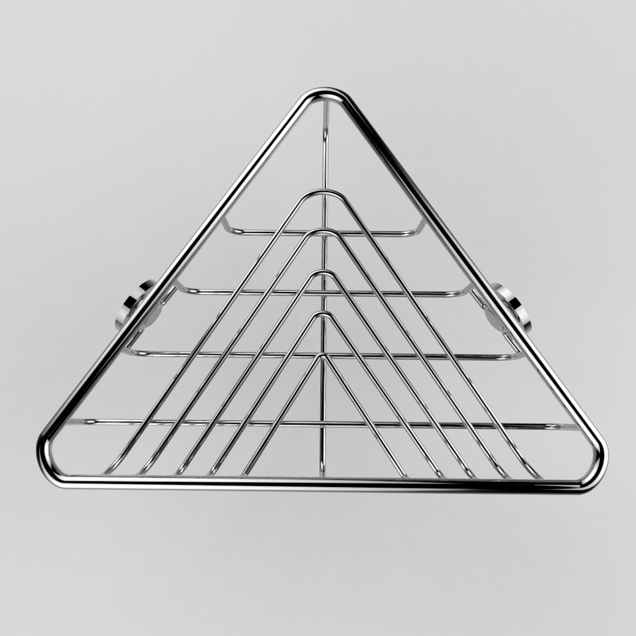 Półka narożna royalty-free 3d model - Preview no. 4
