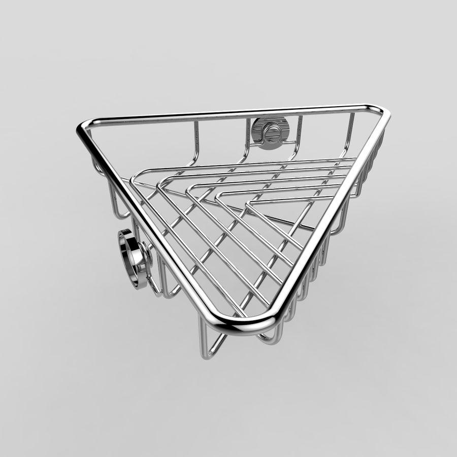 Półka narożna royalty-free 3d model - Preview no. 5