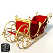 Traîneau de Noël bas poly 3d model