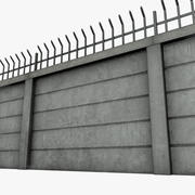 Модульная бетонная стена 3d model