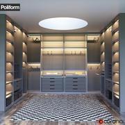 SENZAFINE walk-in closet from Poliform 3d model