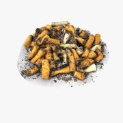 Zigarettenstummel Street Pile 3d model