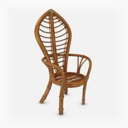 Кресло из ротанга 3d model