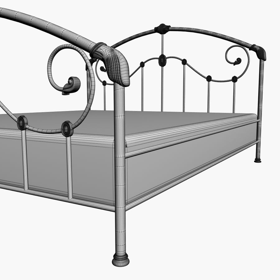 Mayfield Bed royalty-free 3d model - Preview no. 5