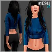 Синяя короткая куртка 3d model