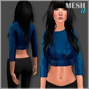 Short Jacket Blue 3d model