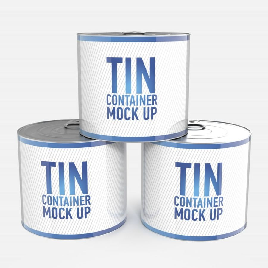 Tin can royalty-free 3d model - Preview no. 10