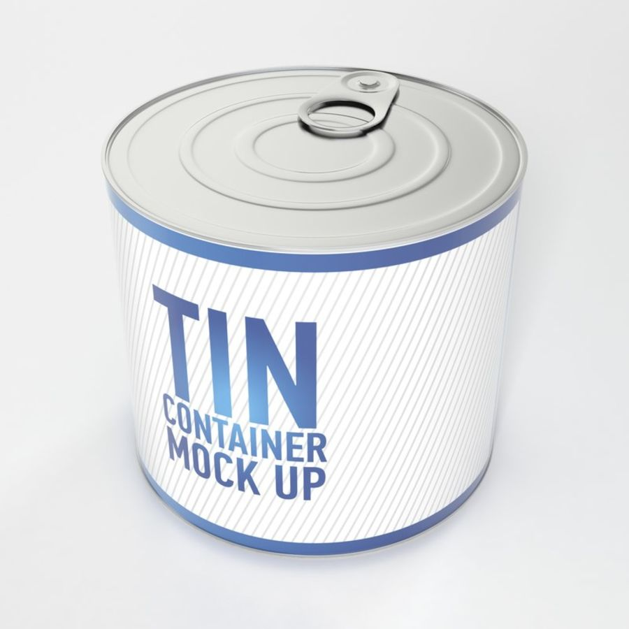 Tin can royalty-free 3d model - Preview no. 2