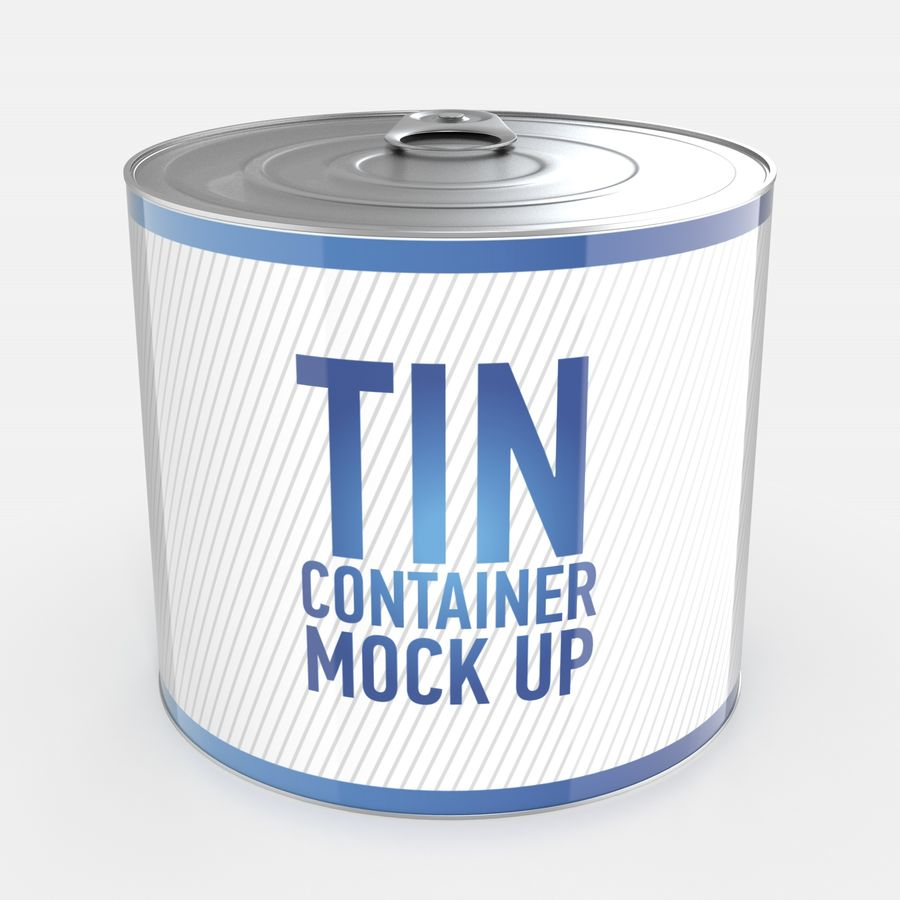 Tin can royalty-free 3d model - Preview no. 6
