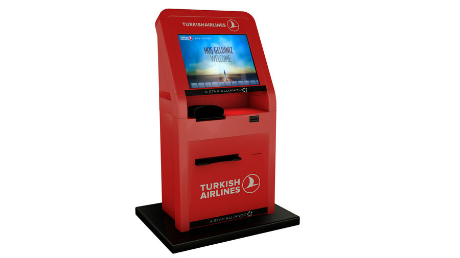 Turkish Airlines Kiosk royalty-free 3d model - Preview no. 2