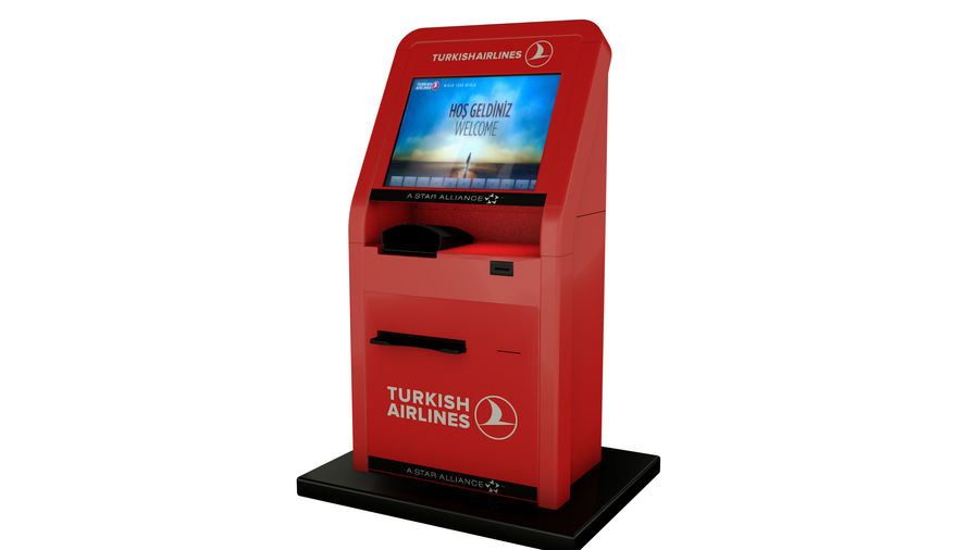 Turkish Airlines Kiosk royalty-free 3d model - Preview no. 1