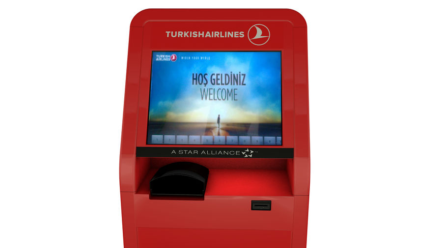 Turkish Airlines Kiosk royalty-free 3d model - Preview no. 4