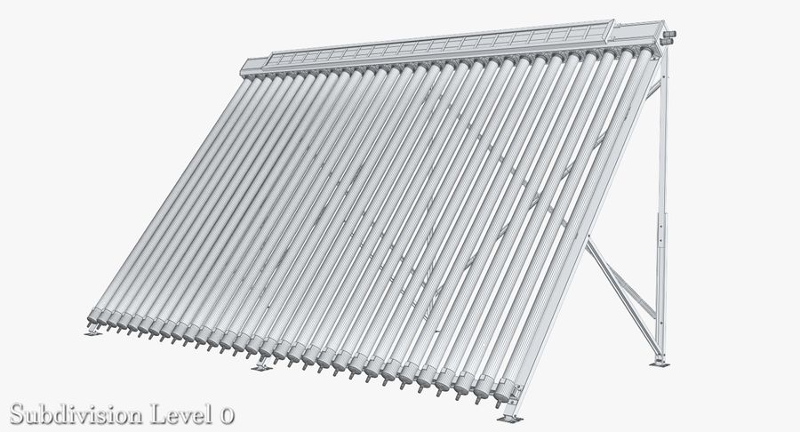 Chauffe-eau solaire royalty-free 3d model - Preview no. 9