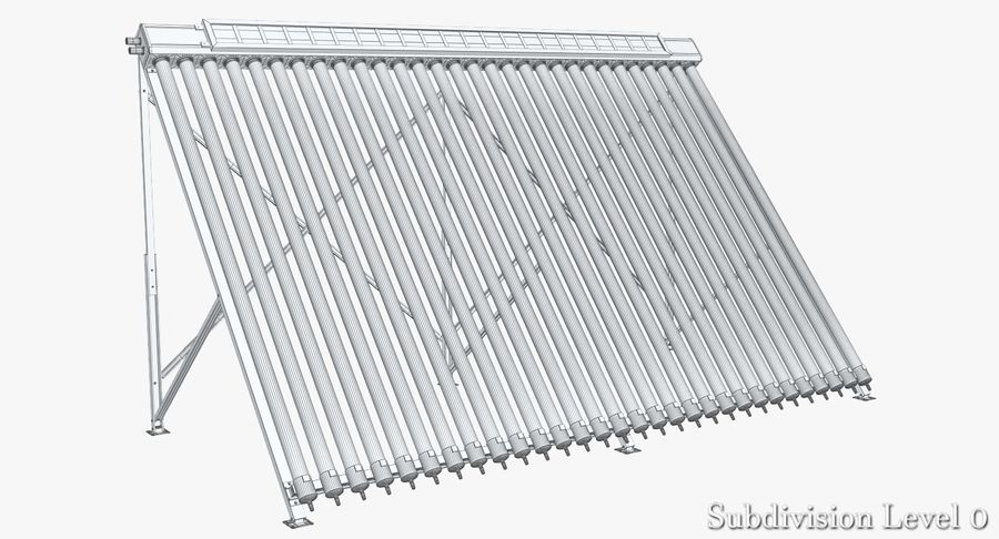Chauffe-eau solaire royalty-free 3d model - Preview no. 7