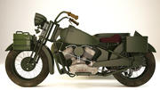 旧摩托车 3d model