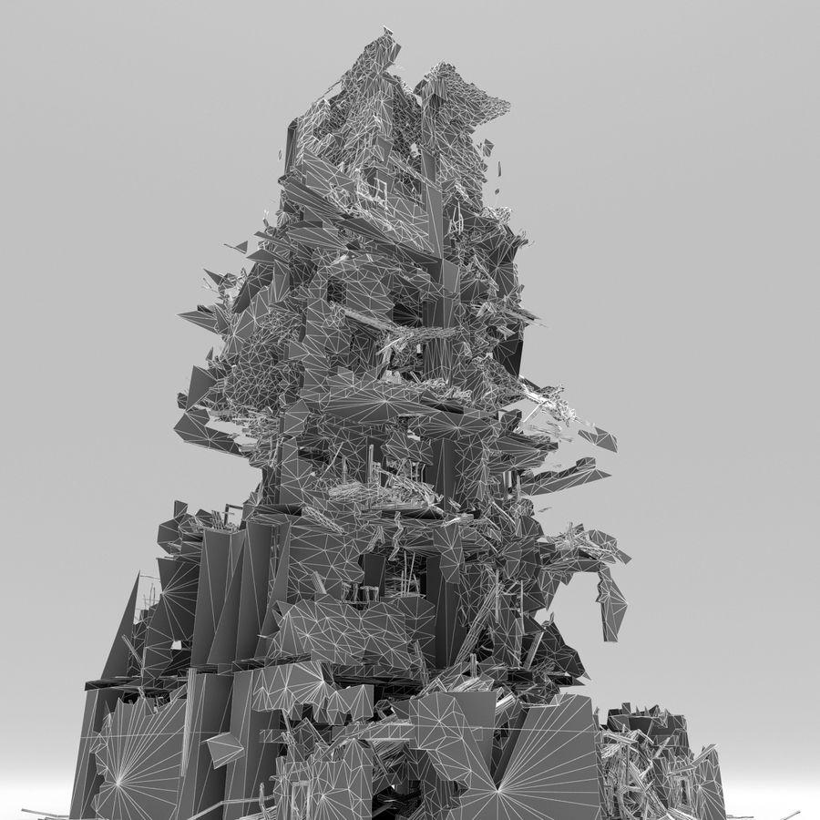 Edificio de ruinas royalty-free modelo 3d - Preview no. 17