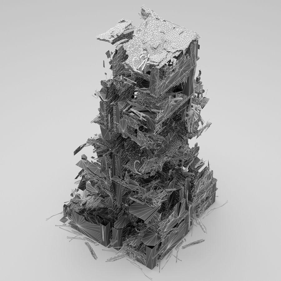 Edificio de ruinas royalty-free modelo 3d - Preview no. 12