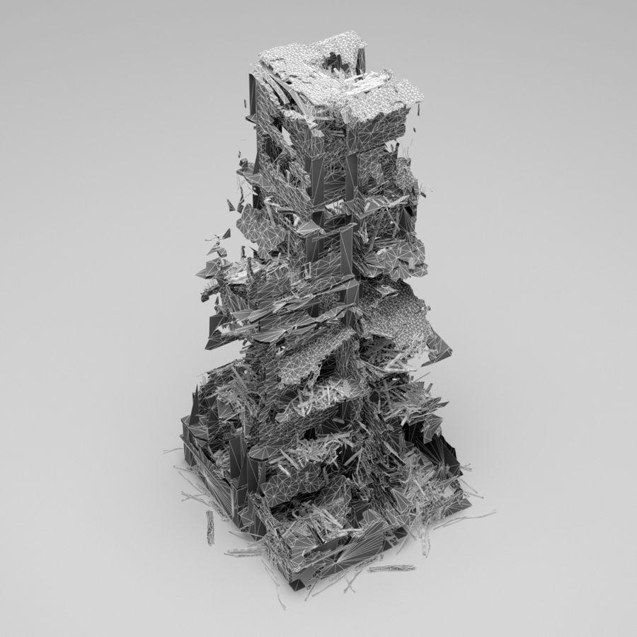 Edificio de ruinas royalty-free modelo 3d - Preview no. 16