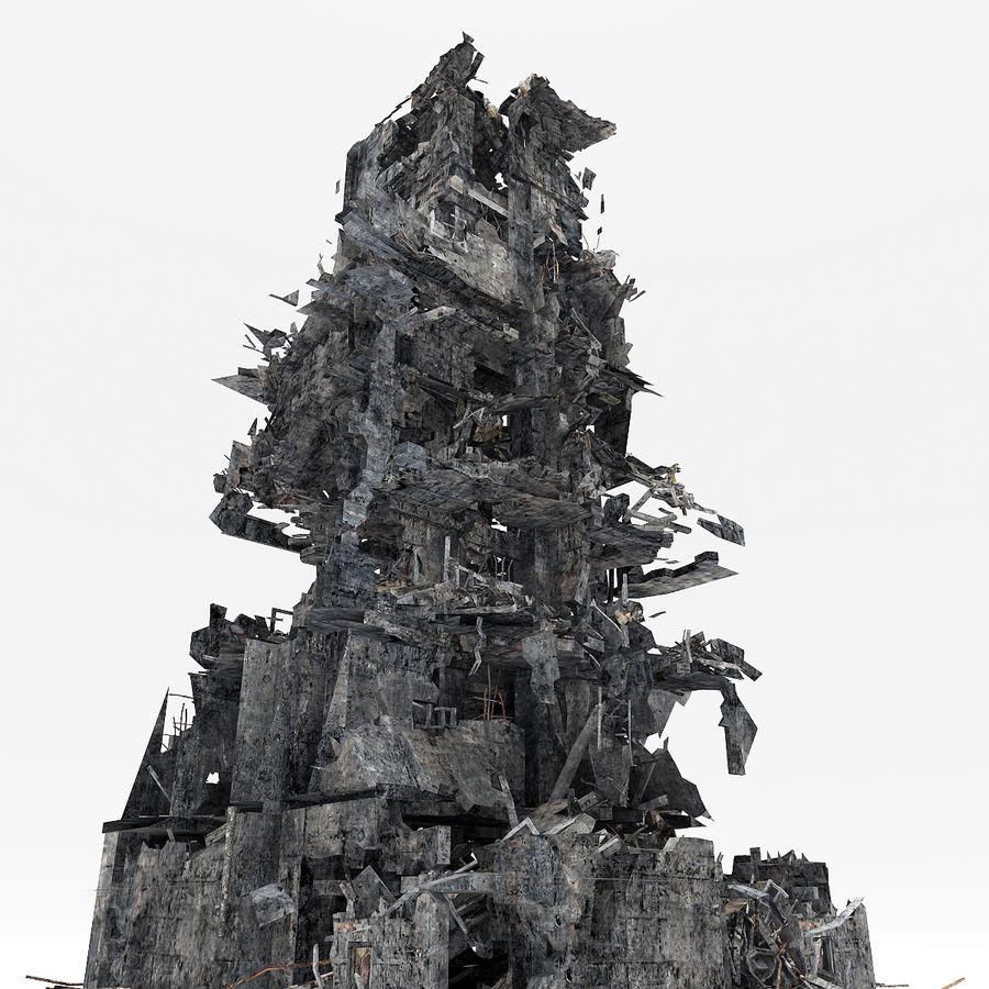 Edificio de ruinas royalty-free modelo 3d - Preview no. 8