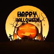 Halloween scenery 3d model