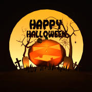 Halloween-Landschaft 3d model