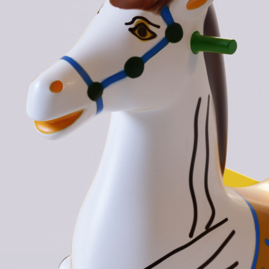 Parkera hästmaskin royalty-free 3d model - Preview no. 10