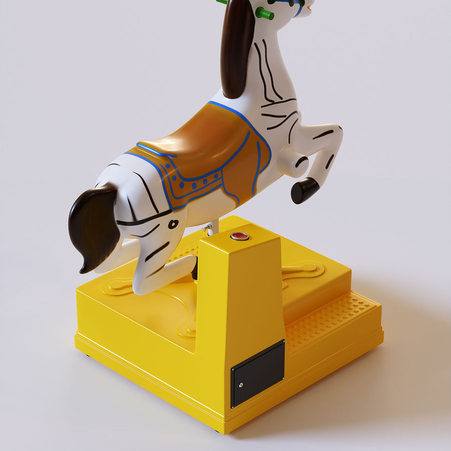 Parkera hästmaskin royalty-free 3d model - Preview no. 5