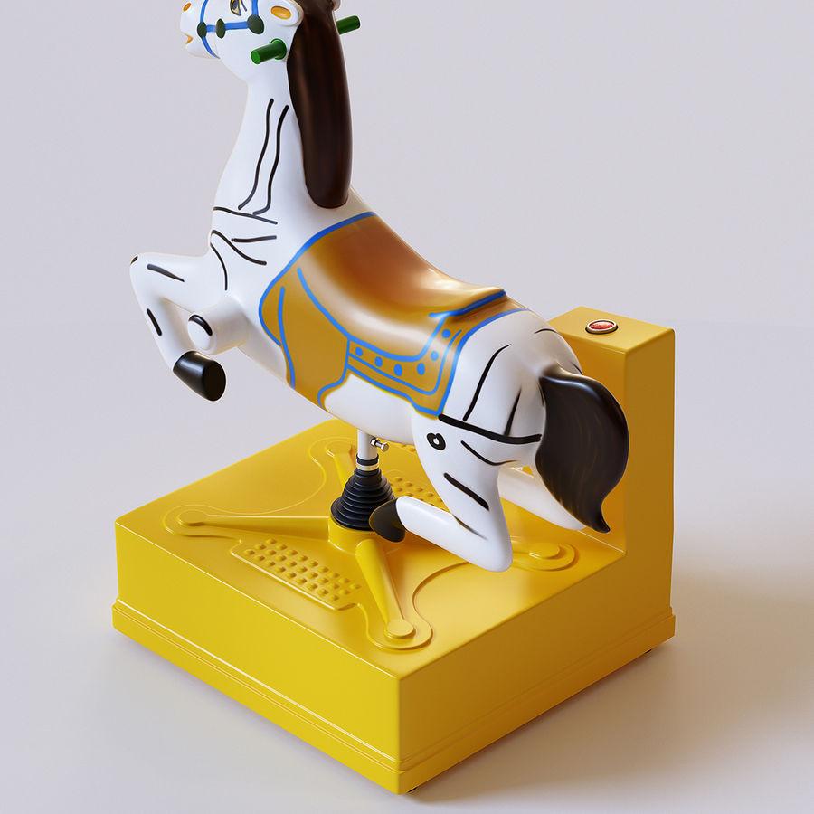 Parkera hästmaskin royalty-free 3d model - Preview no. 6