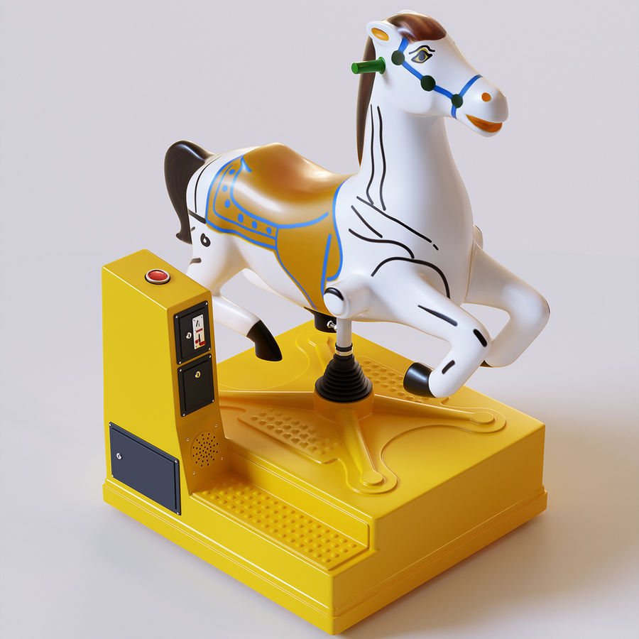 Parkera hästmaskin royalty-free 3d model - Preview no. 1