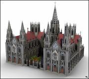 哥特式大教堂V1 3d model