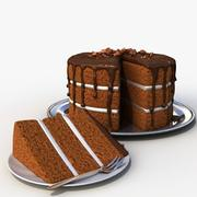 초콜릿 케이크 슬라이스 3d model