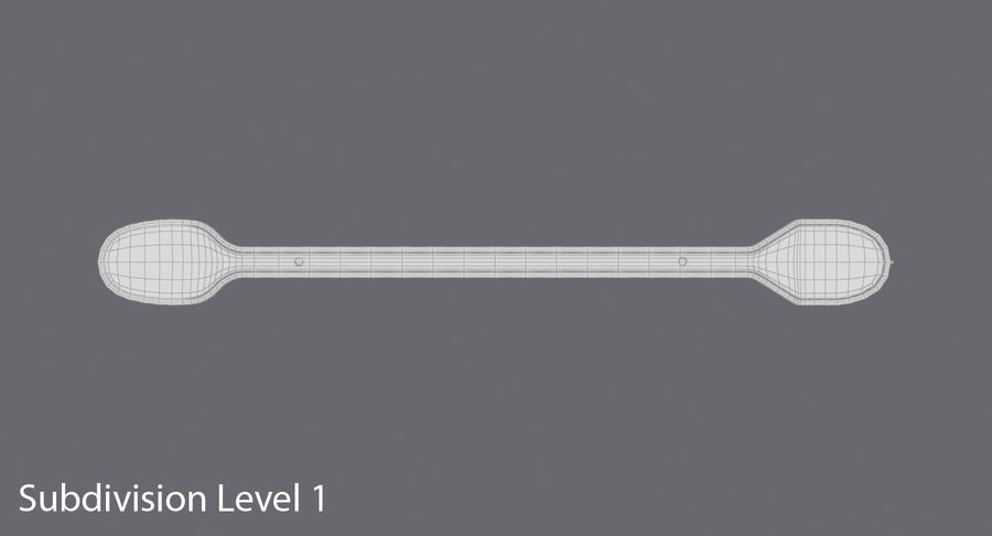 Coffee Stirrer royalty-free 3d model - Preview no. 16