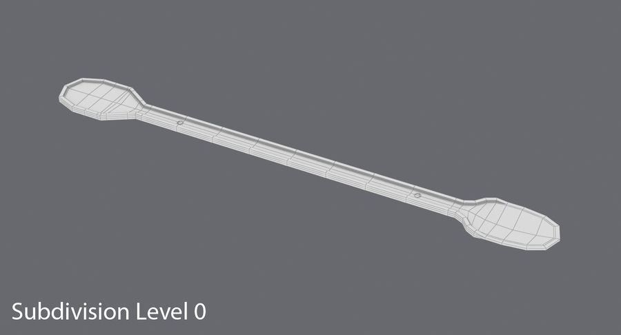 Coffee Stirrer royalty-free 3d model - Preview no. 14