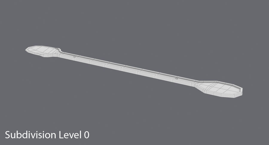 Coffee Stirrer royalty-free 3d model - Preview no. 12