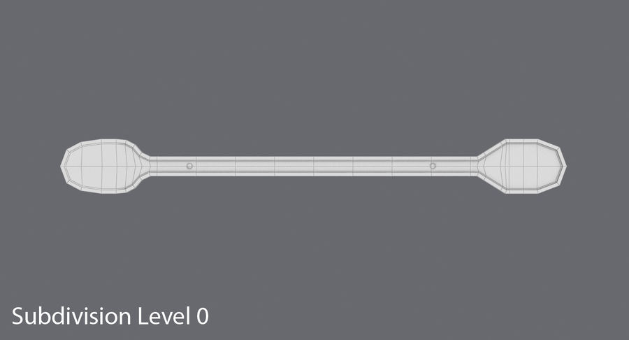 Coffee Stirrer royalty-free 3d model - Preview no. 13