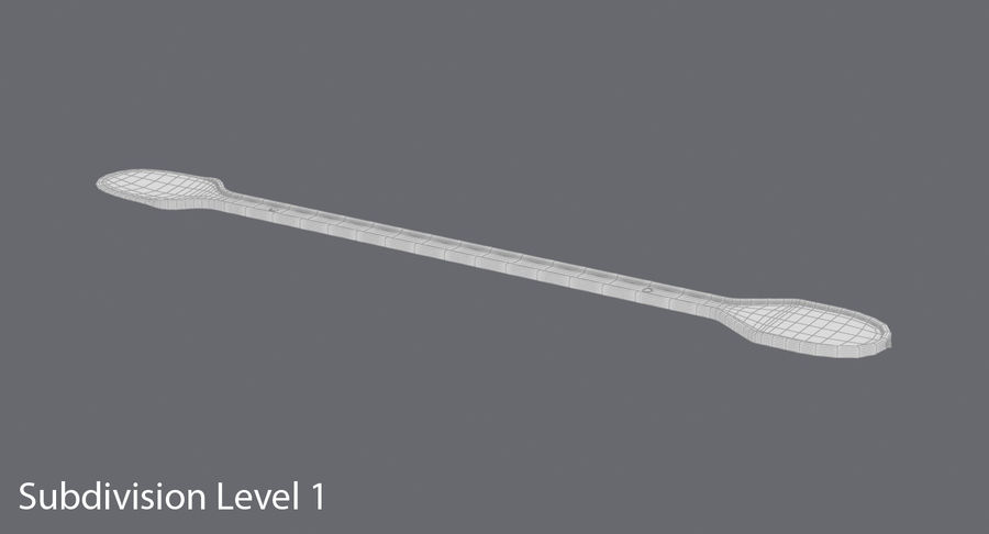 Coffee Stirrer royalty-free 3d model - Preview no. 15