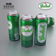 ビール缶グロルシュ500ml 3d model