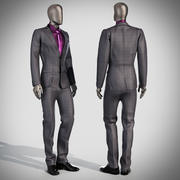 Costume de mannequin 2 3d model