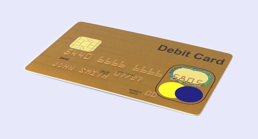 Karta debetowa 01 royalty-free 3d model - Preview no. 3