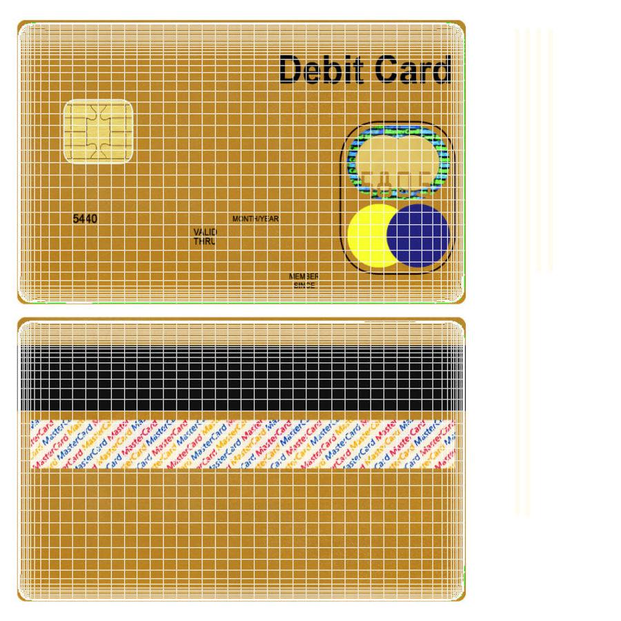 Karta debetowa 01 royalty-free 3d model - Preview no. 18