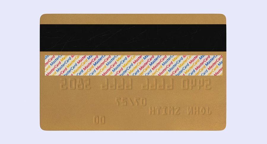 Karta debetowa 01 royalty-free 3d model - Preview no. 11