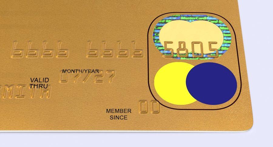 Karta debetowa 01 royalty-free 3d model - Preview no. 10