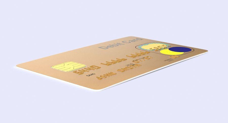 Karta debetowa 01 royalty-free 3d model - Preview no. 8