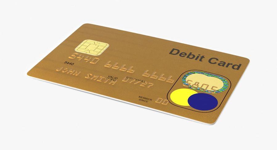 Karta debetowa 01 royalty-free 3d model - Preview no. 2