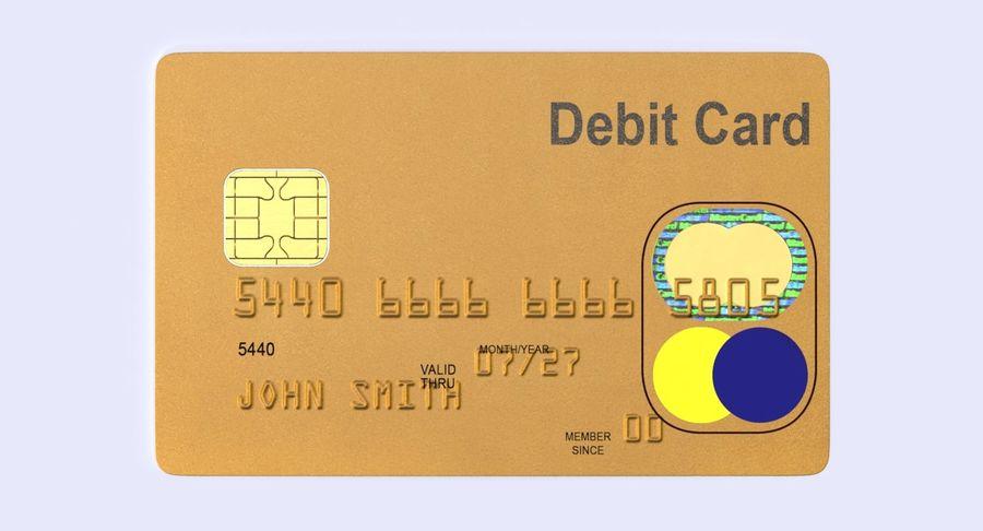 Karta debetowa 01 royalty-free 3d model - Preview no. 5