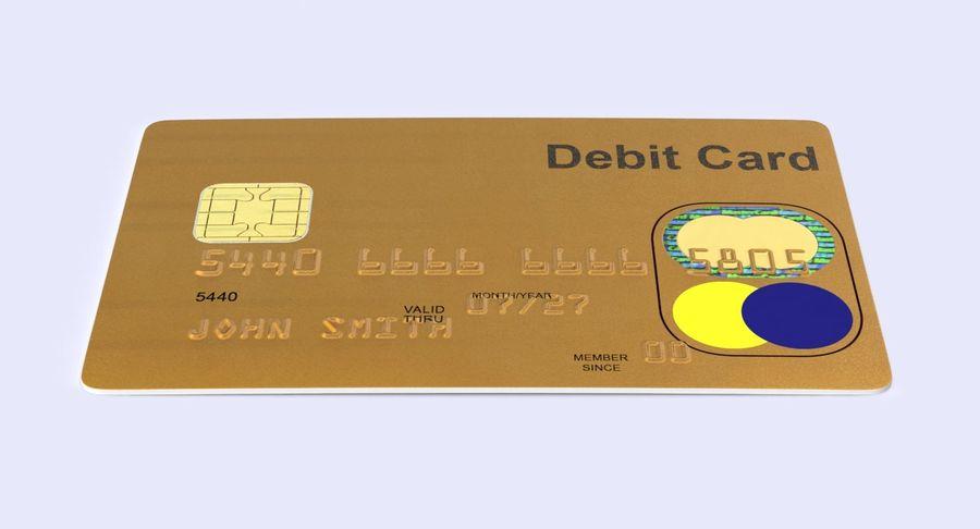 Karta debetowa 01 royalty-free 3d model - Preview no. 7