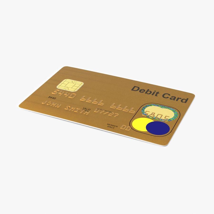 Karta debetowa 01 royalty-free 3d model - Preview no. 1
