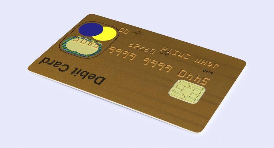 Karta debetowa 01 royalty-free 3d model - Preview no. 6