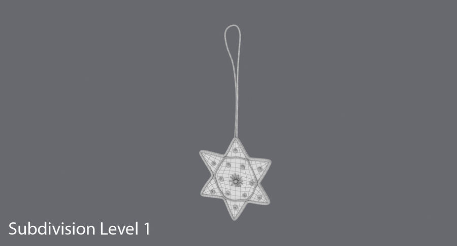 Star of David Ornament 02 royalty-free 3d model - Preview no. 12