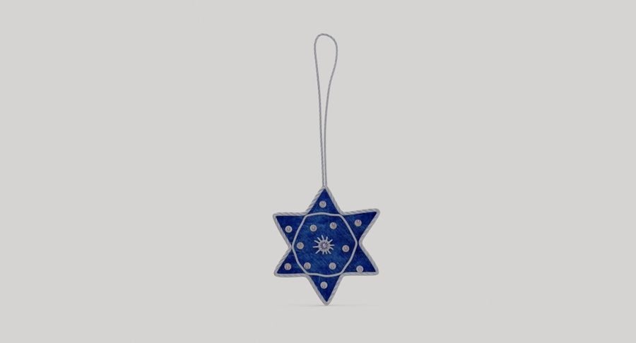 Star of David Ornament 02 royalty-free 3d model - Preview no. 5